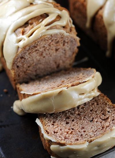 Mini Caramel-Glazed Honey Crisp Apple Bread
