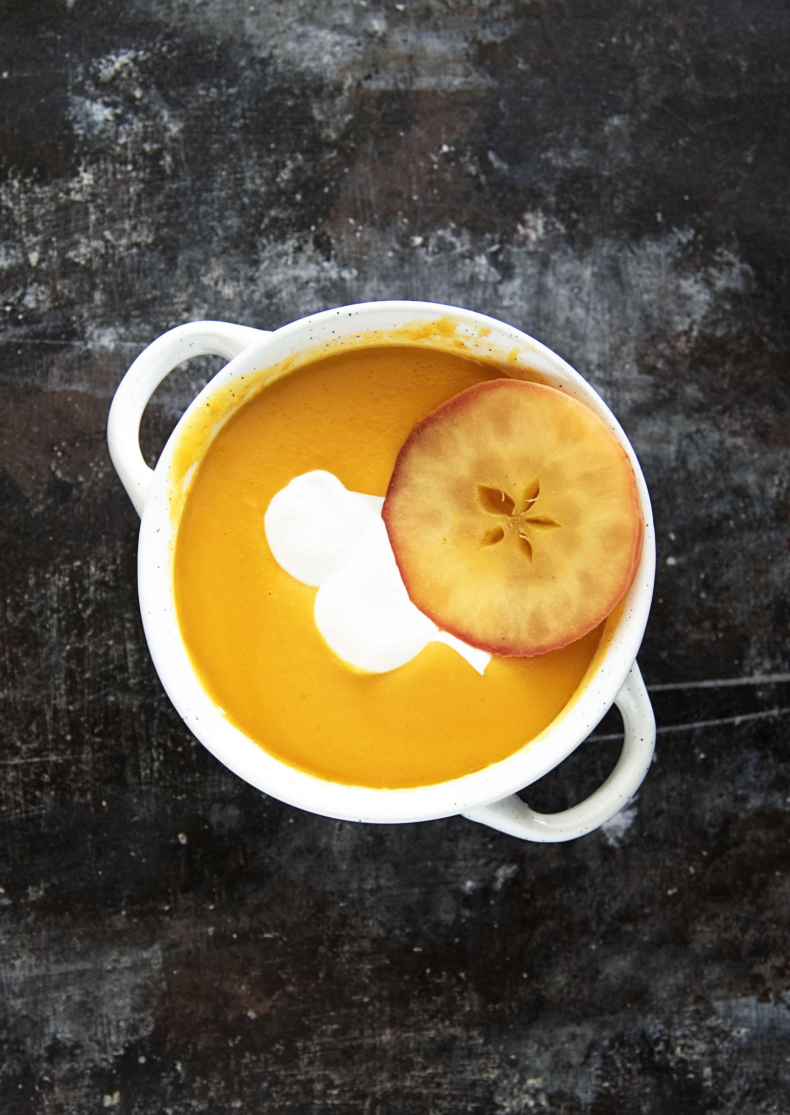 Sweet Potato Apple Cider Soup