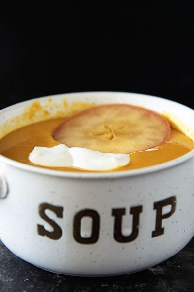Sweet Potato Apple Cider Soup