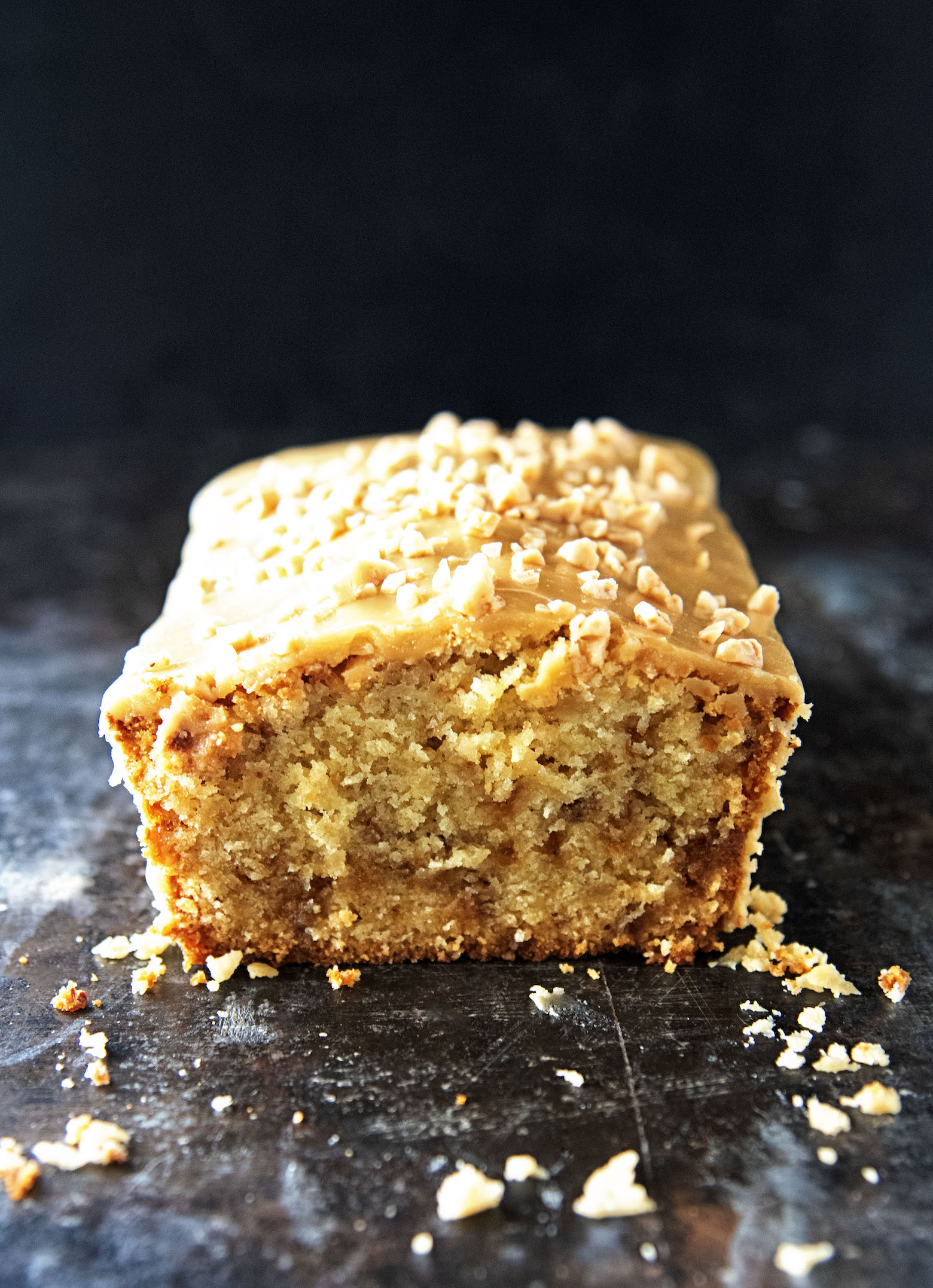 Toffee Apple Cider Pound Cake