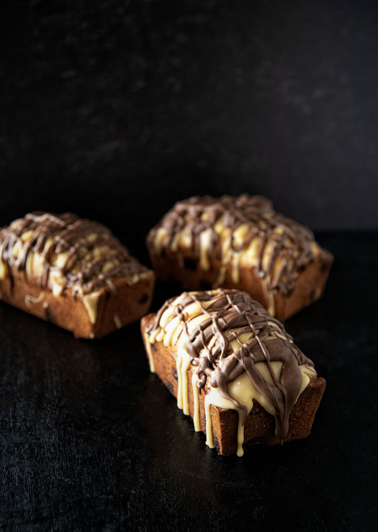 Chocolate Peanut Caramel Quick Bread