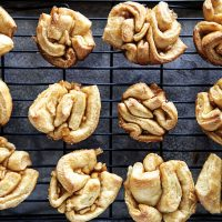 Cinnamon Sugar Apple Babka Buns