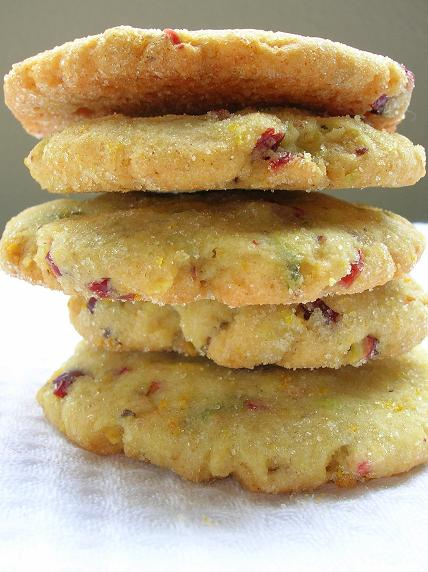 Cranberry Orange Pistachio Cookies
