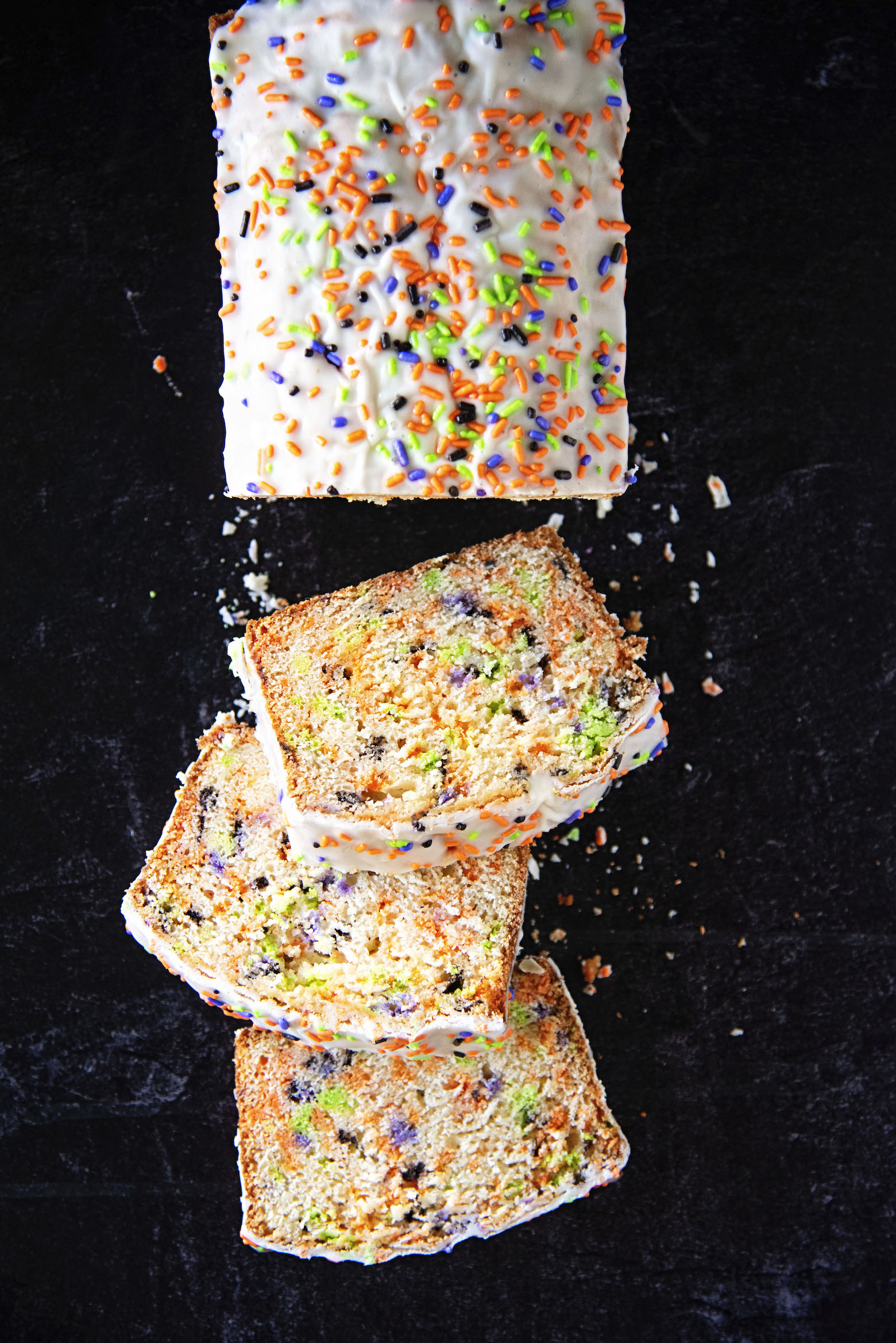 Halloween Vanilla Sprinkle Quick Bread