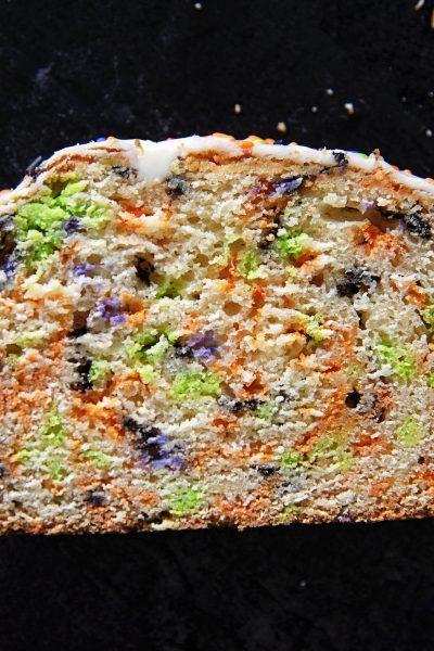 Halloween Vanilla Sprinkle Quick Bread
