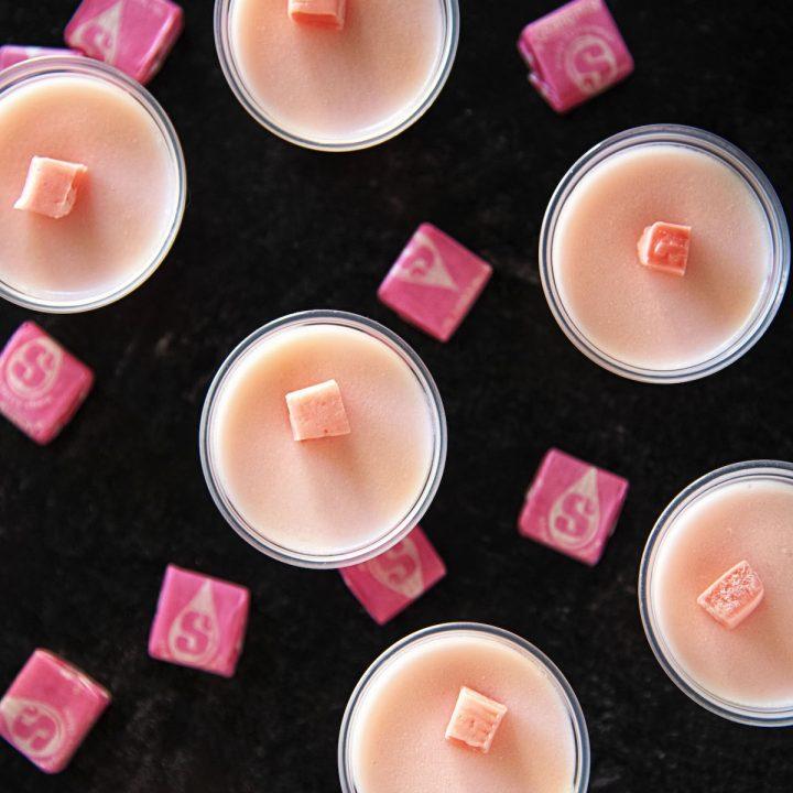 Pink Starburst Jell-O Shots