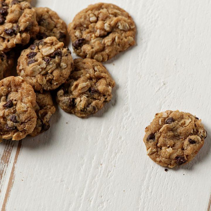 Small Batch Mini Oatmeal Chocolate Chip Cookies