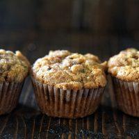 Zucchini Apple Crumb Muffins