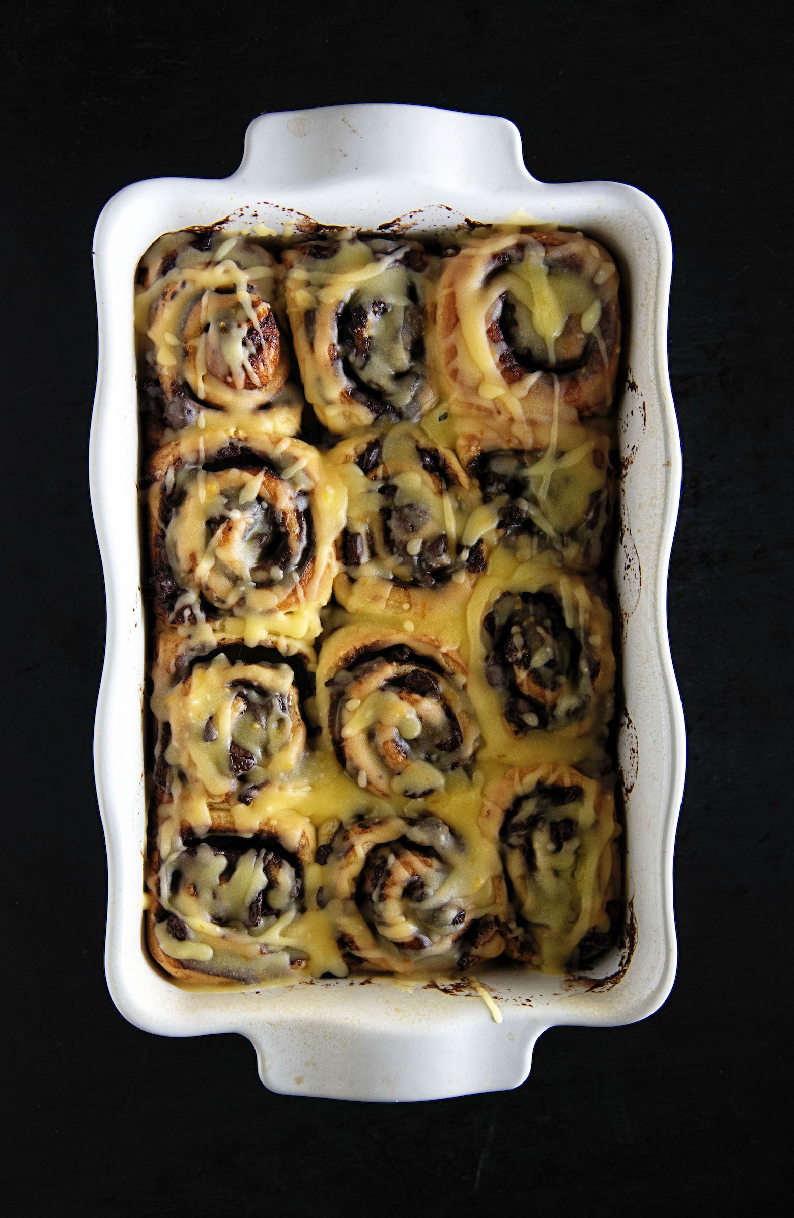 Chocolate Clementine Sweet Rolls