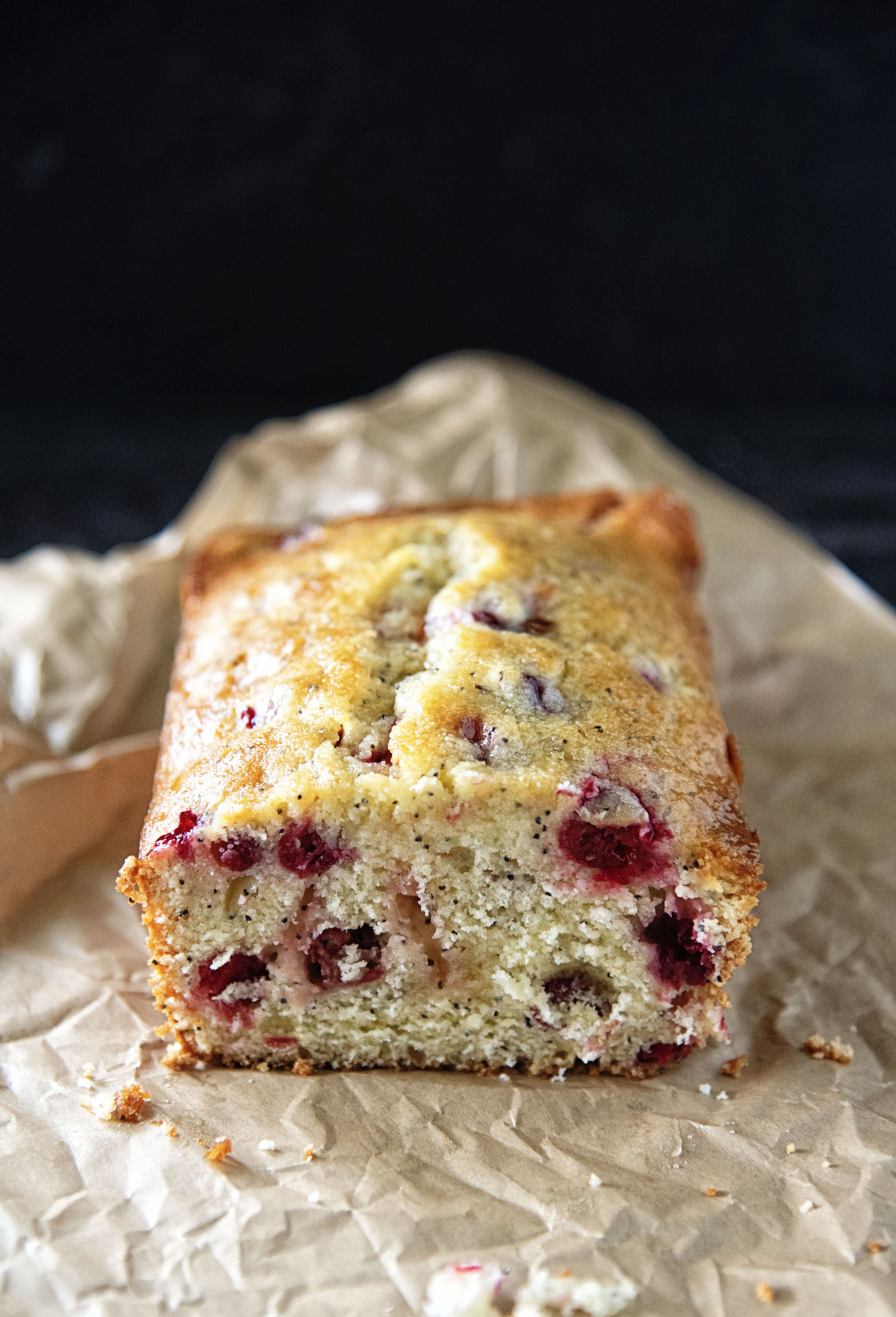 Cranberry Lemon Poppyseed Loaf