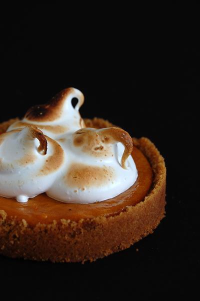 Honey Pumpkin Meringue Tart