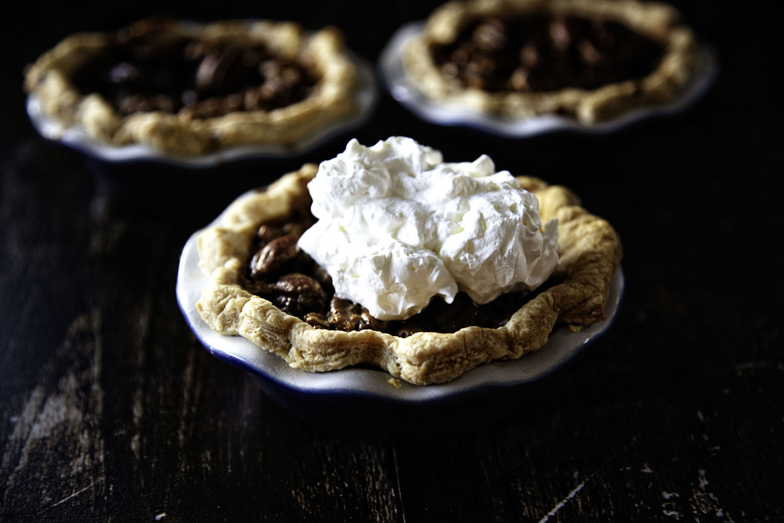 Mini Pecan Bourbon Pies