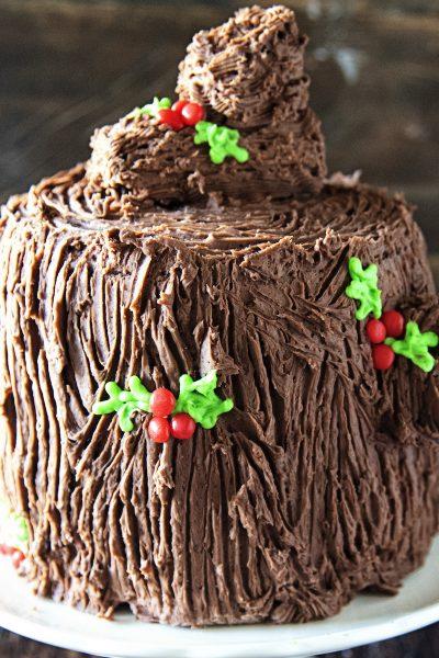 Yule Log Layer Cake