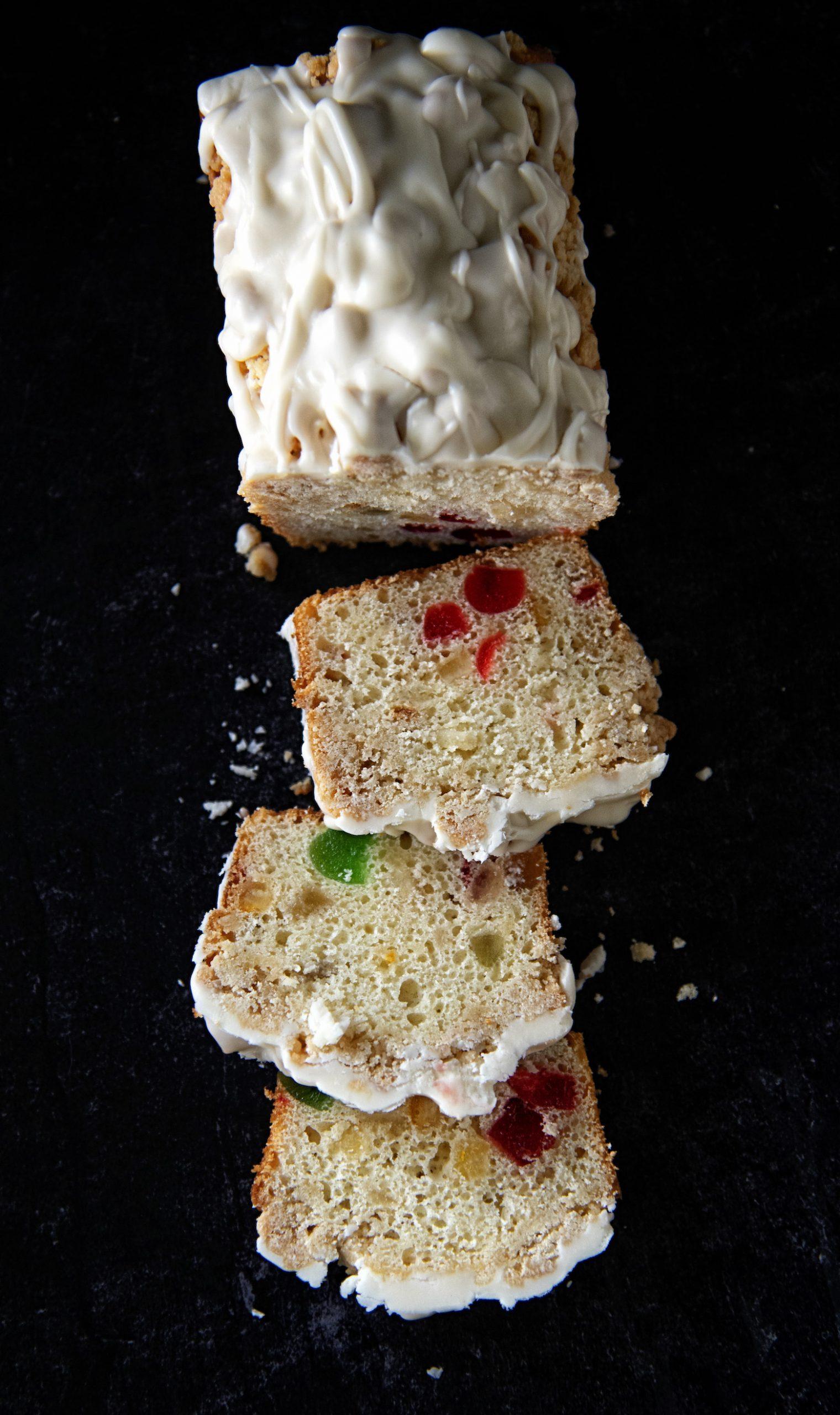 Bourbon Fruitcake Crumb Cake
