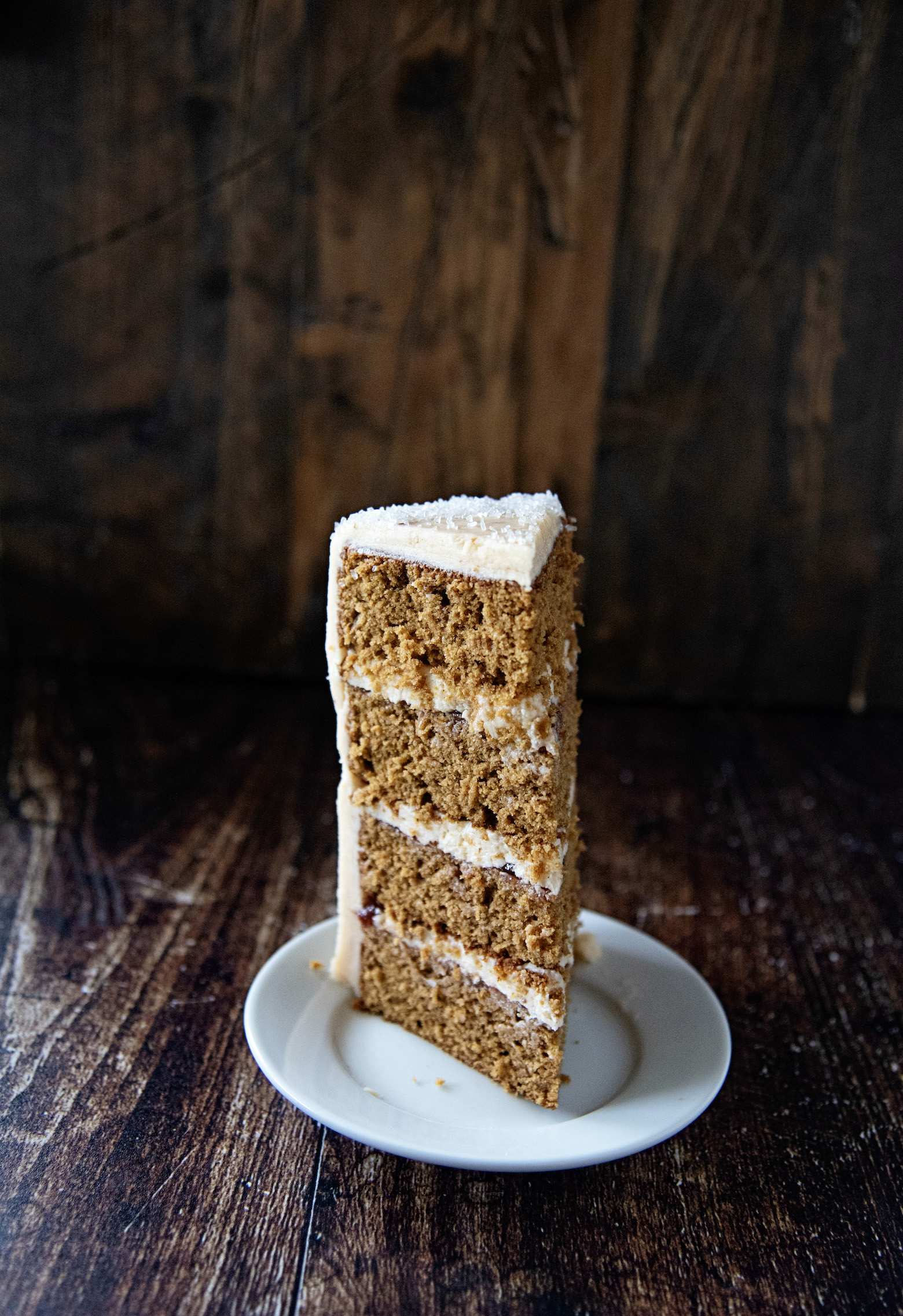 Gingerbread Sugar Plum Layer Cake