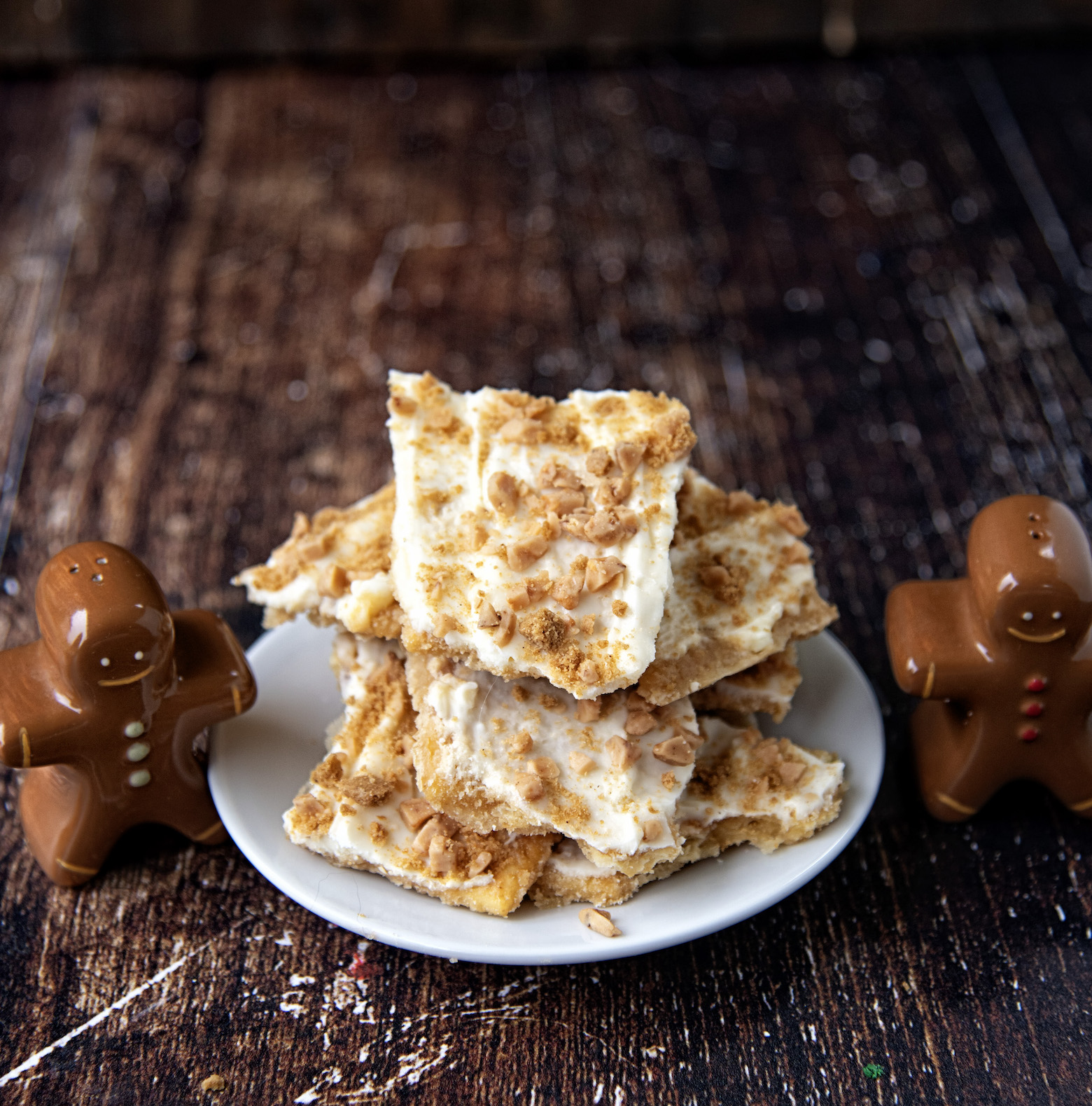 Gingersnap White Chocolate Cracker Toffee