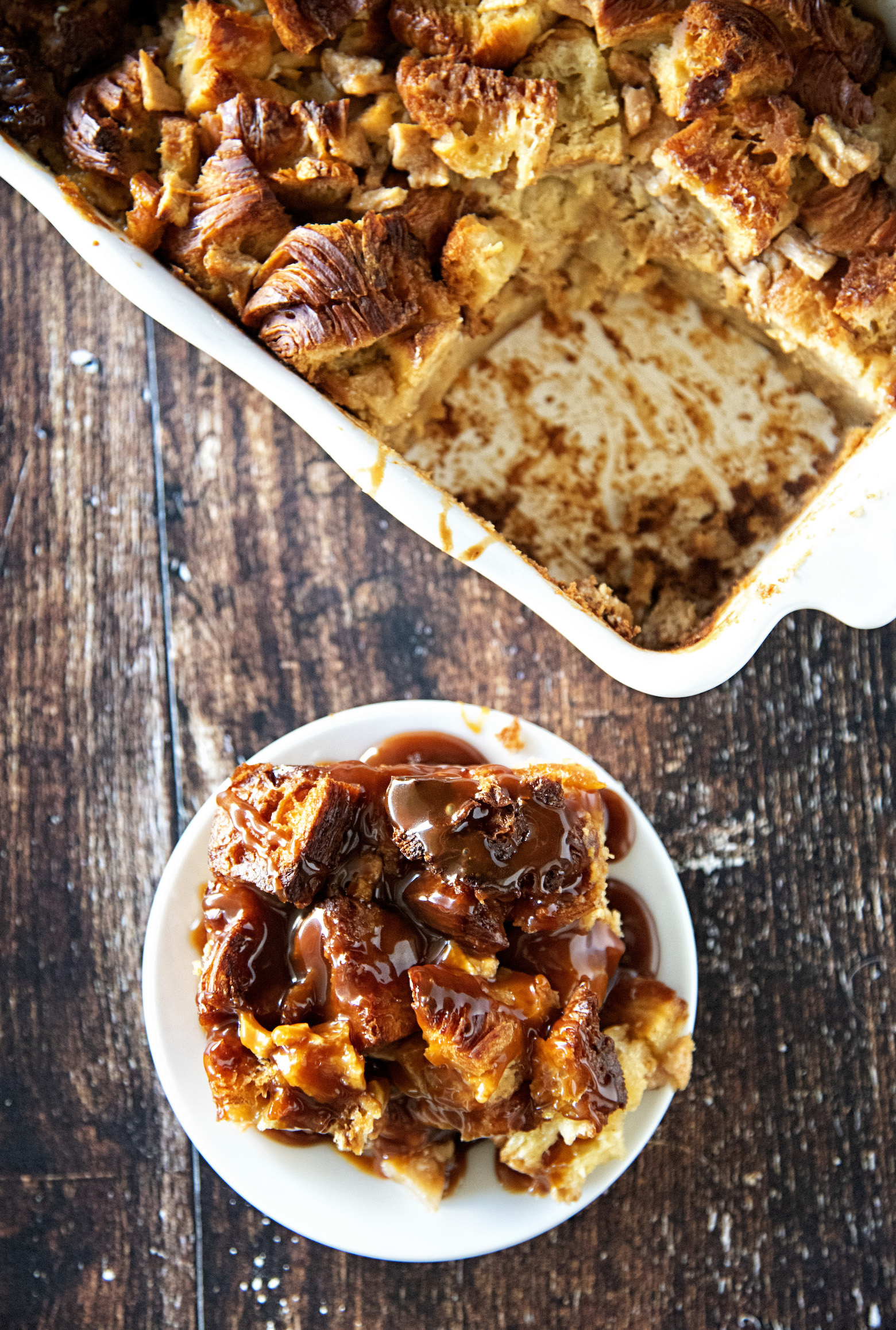 Honey Pear Ginger Bread Pudding