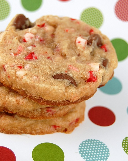 Peppermint Crunch-Milk Chocolate Chip Cookies