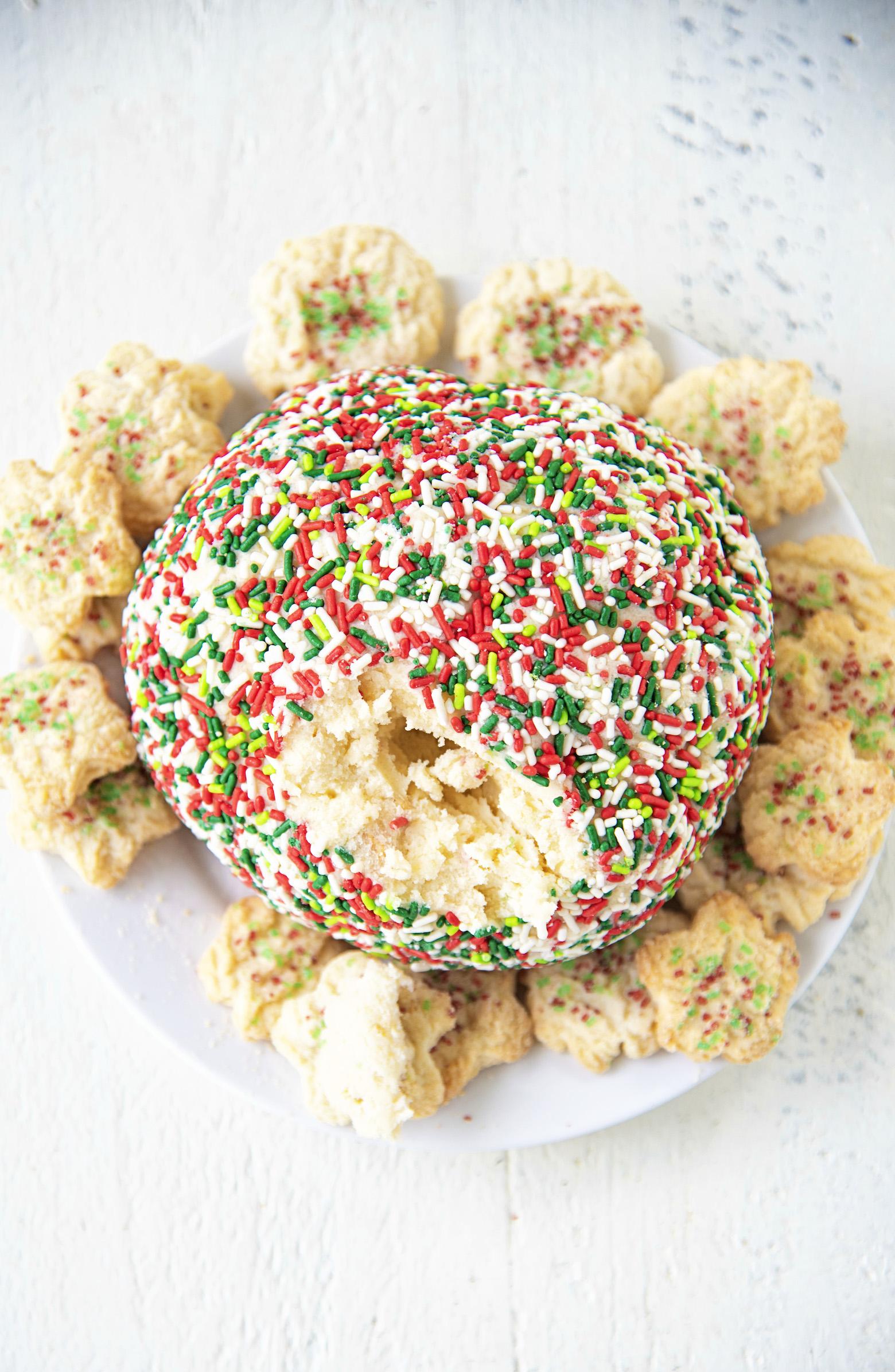 Sugar Cookie Cheesecake Cheeseball
