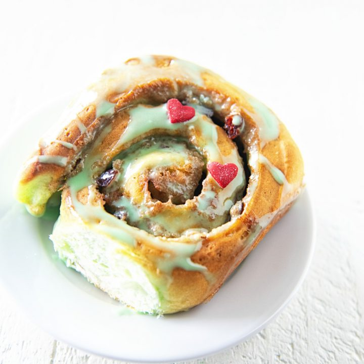 The Grinch Cranberry Cinnamon Rolls