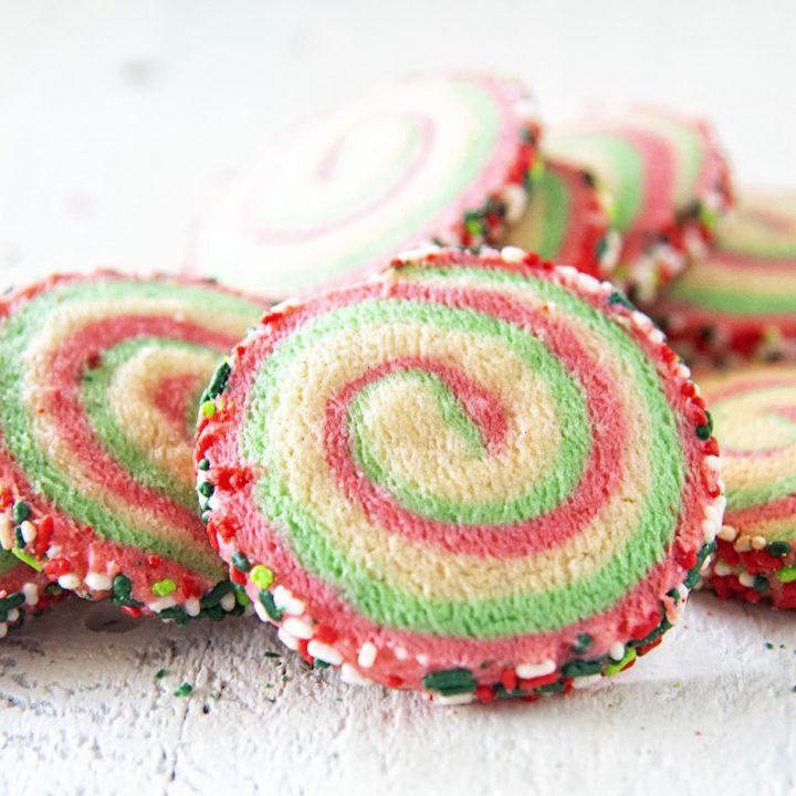 Vanilla Mint Pinwheel Cookies