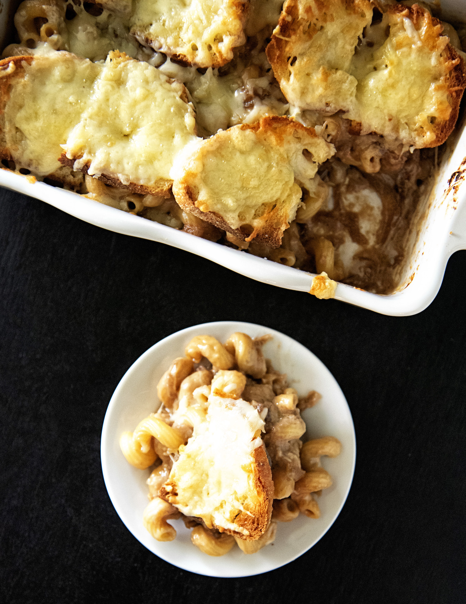 French Onion Soup Baked Pasta