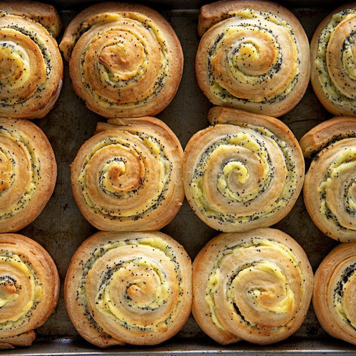 Lemon Poppyseed Sweet Rolls