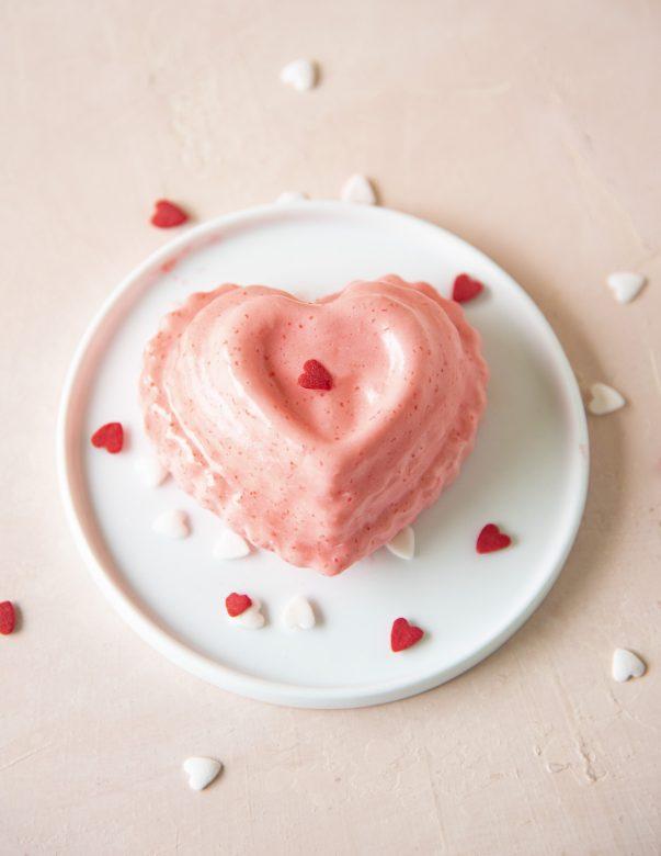 Strawberry Prosecco Jell-O Mold
