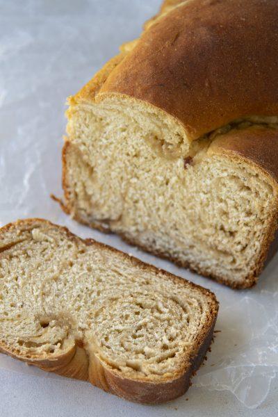 Brown Sugar Spiral Banana Bread