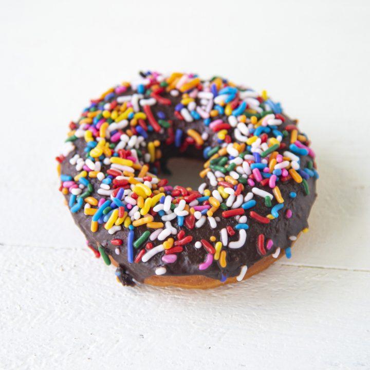 Chocolate Sprinkle Yeast Donuts