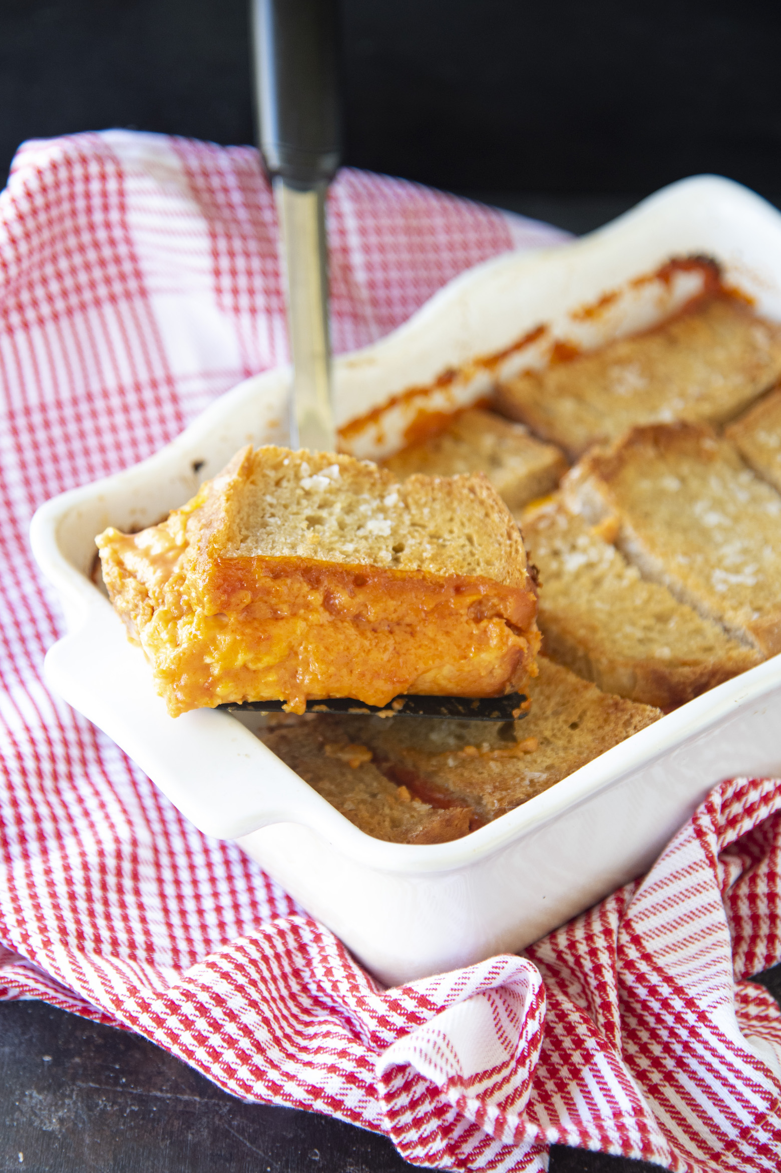 Grilled Cheese Tomato Soup Casserole