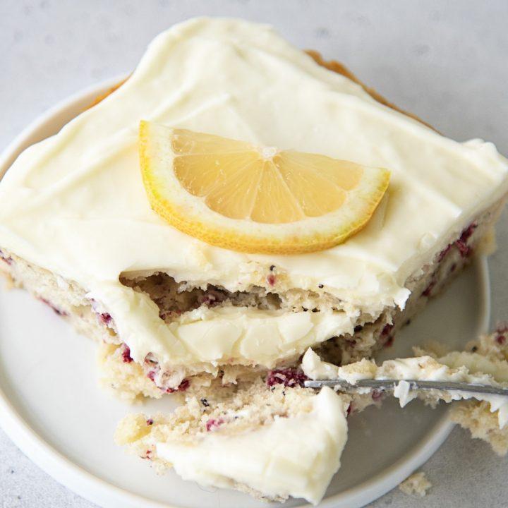 Pink Lemon Poppyseed Cake