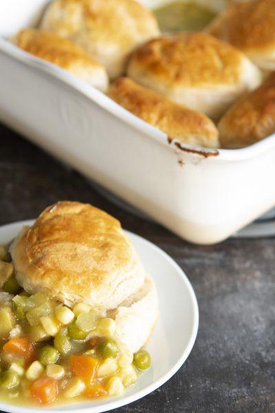 Vegetable Biscuit Pot Pie Cobbler