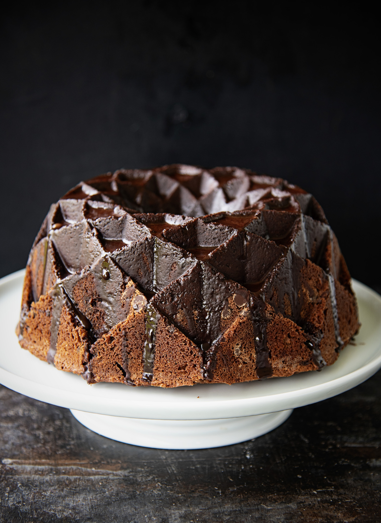 Bailey's Salted Caramel Chocolate Bundt Cake