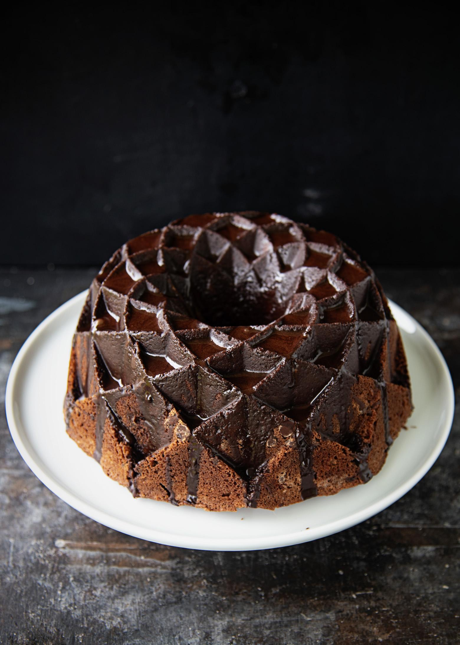Bailey's Salted Caramel Chocolate Bundt Cake