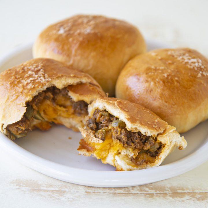 Vegetarian Cheeseburger Buns
