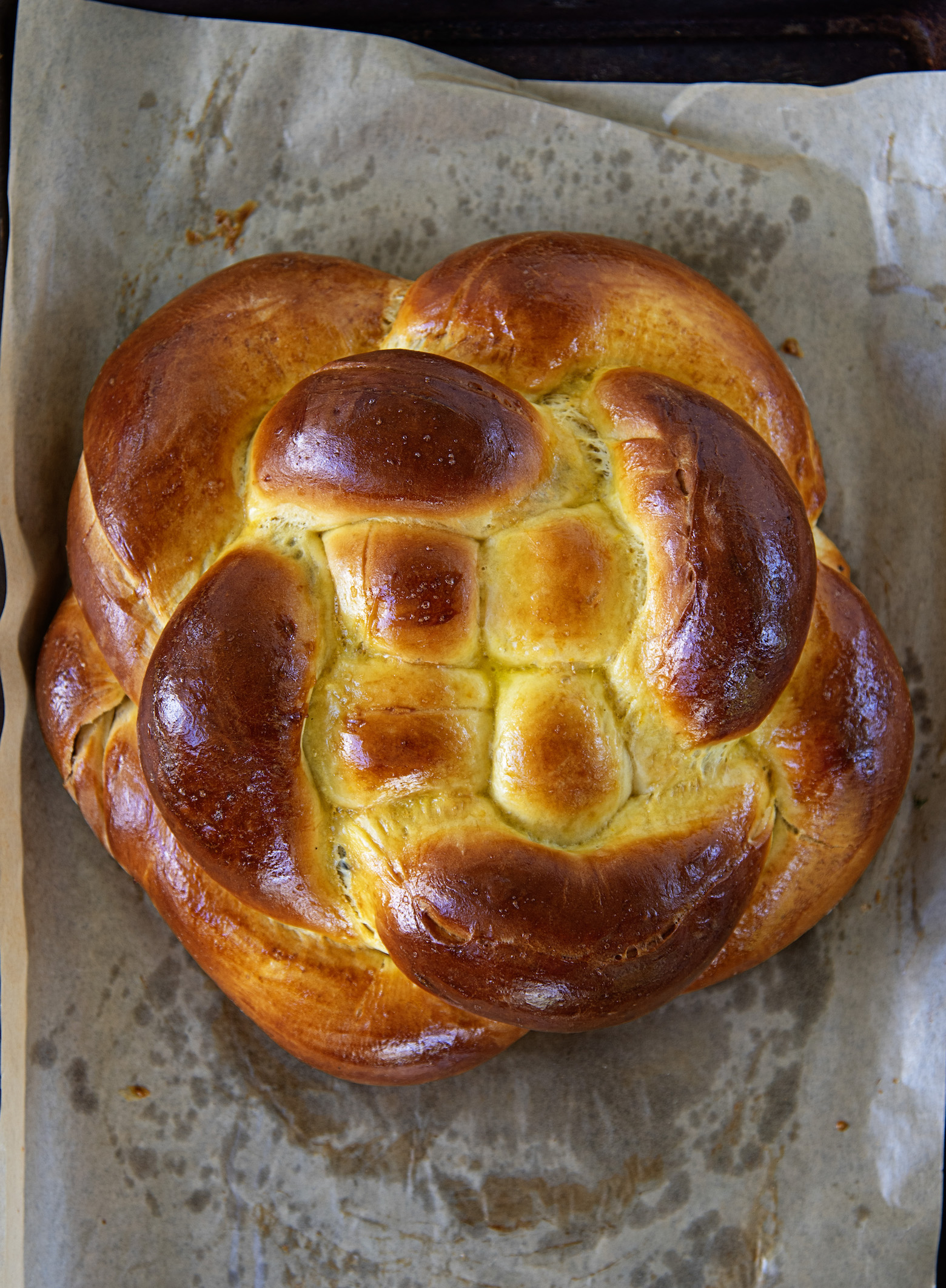 Orange Blossom Chocolate Challah Bread