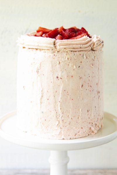 Strawberry Mascarpone Buttermilk Layer Cake