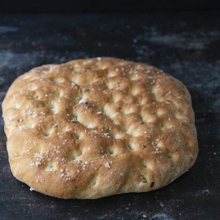 Basil Sea Salt Focaccia Bread