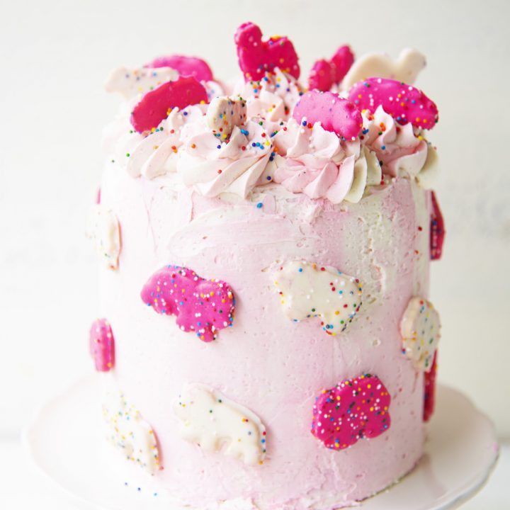 Circus Animal Cookie Layer Cake