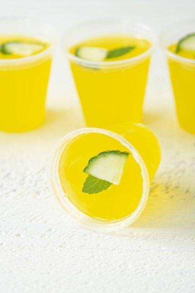 Cucumber Mint Lemonade Jell-O Shots