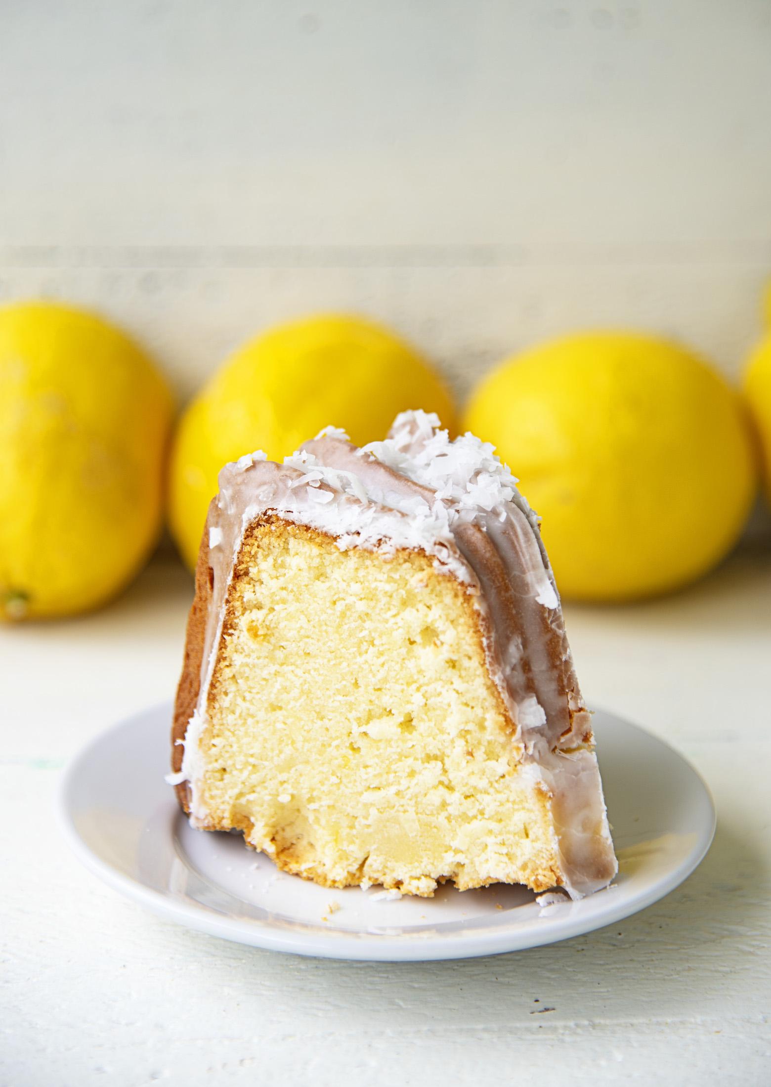 Lemon Coconut Mascarpone Pound Cake