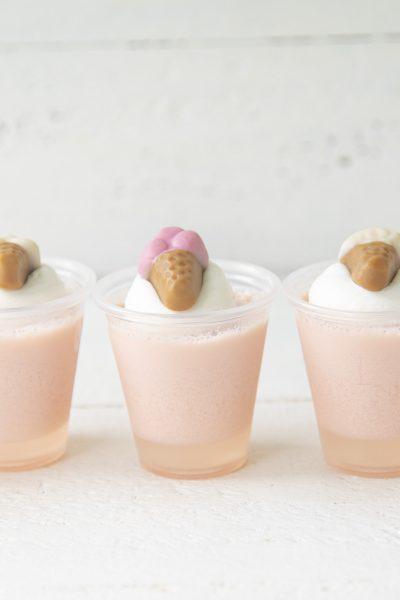 Strawberry Ice Cream Jell-O Shots