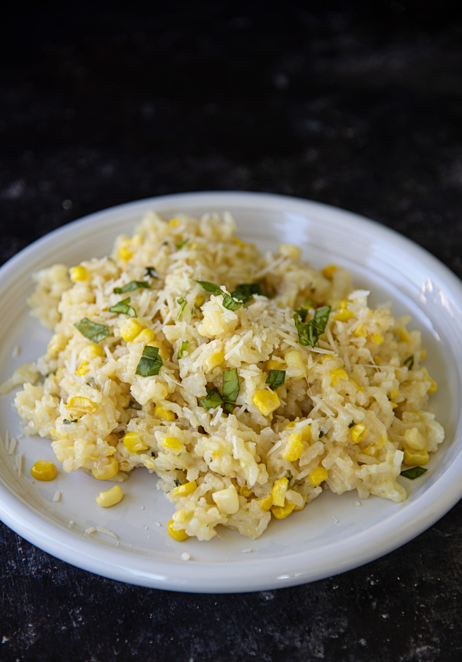 Sweet Corn Parmesan Oven Risotto