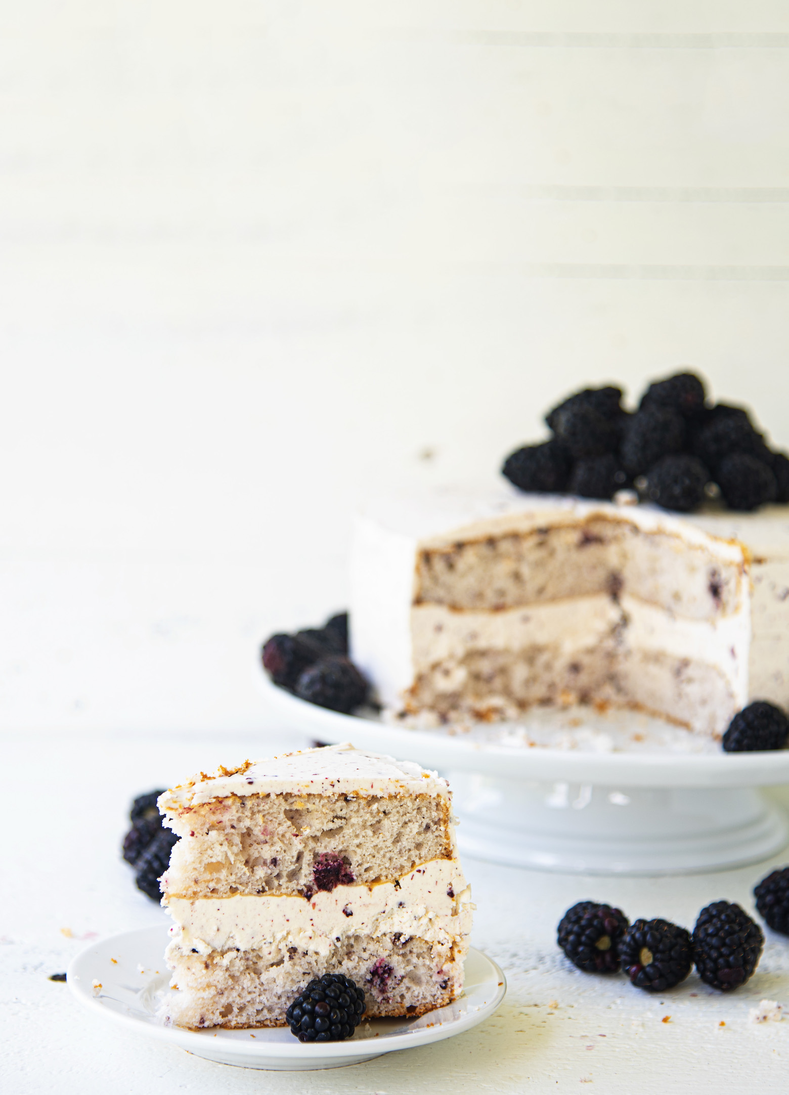 Blackberry Lime Layer Cake