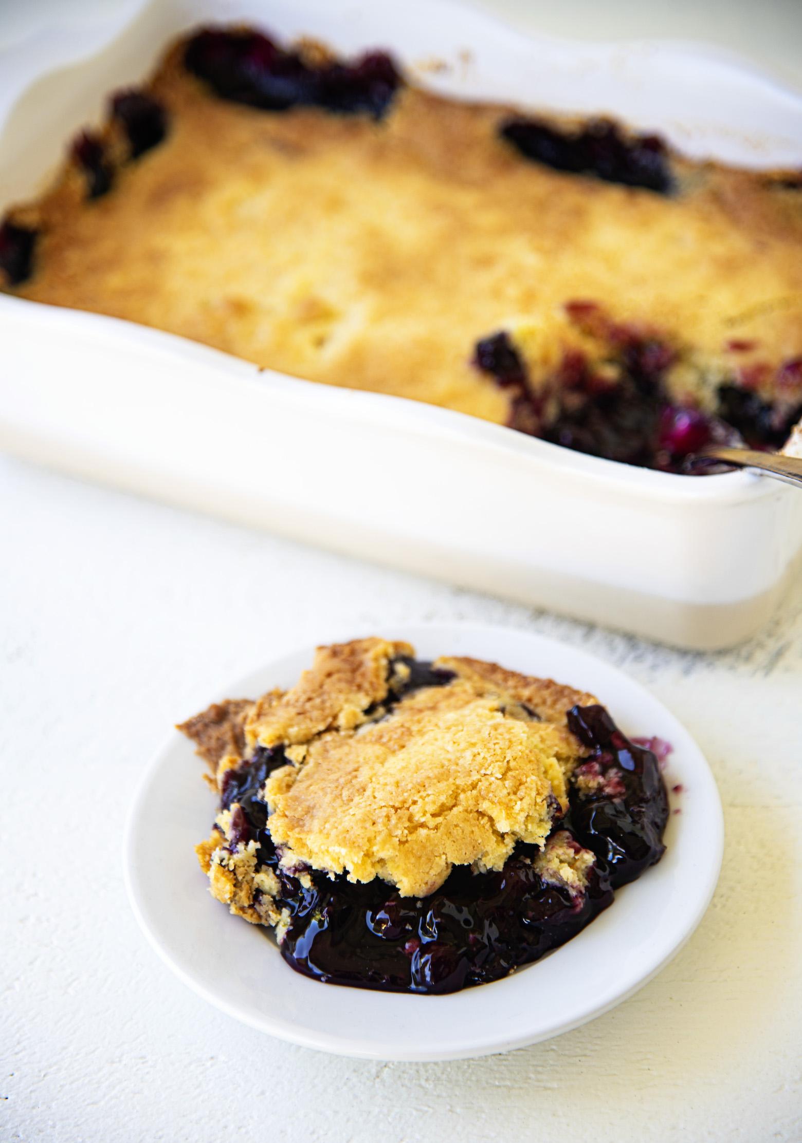Blueberry Lemon Dump Cake