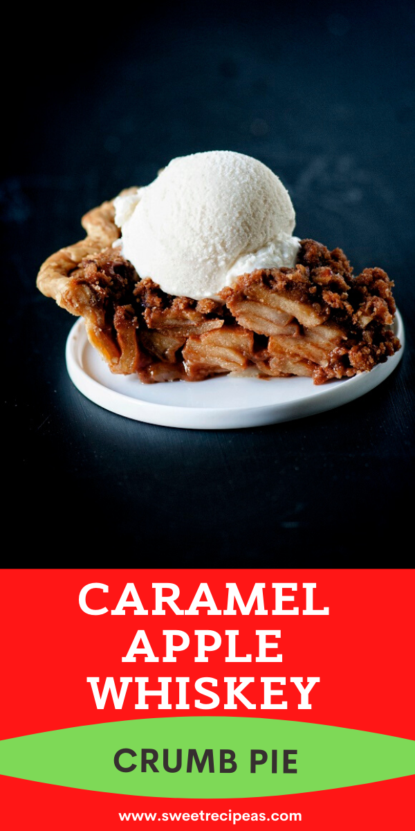 Caramel Apple Whiskey Crumb Pie