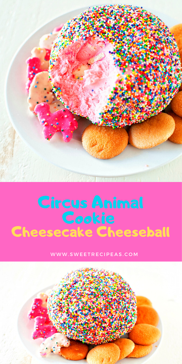 Circus Animal Cookie Cheesecake Cheeseball