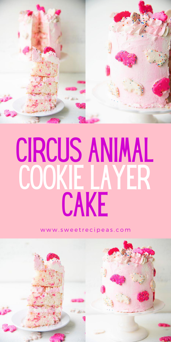 Circus Animal Cookie Layer Cake