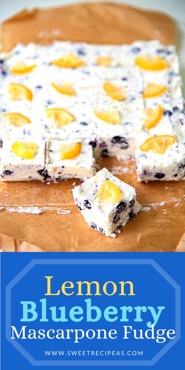 Lemon Blueberry Mascarpone Fudge